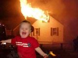 儿童玩火 危害巨大