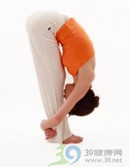 瑜伽体式:单腿前屈式