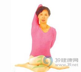 瑜伽体位法-牛面坐