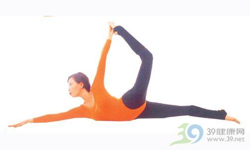 瑜伽体位法--卧姿拉弓式