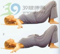 瑜伽�w式:骨盆�A斜式