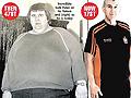 超级肥汉甩肉190公斤对比照(图)