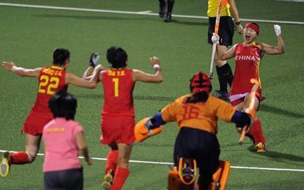 中国队卫冕女子曲棍球冠军