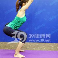 椅姿式压腿瑜伽操 紧翘臀部瘦大腿