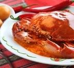 降脂食谱之茄子炒河蟹