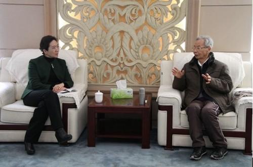 王彦峰理事长会见大连市委常委、副市长曹爱华一行