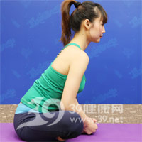 束脚式压腿瑜伽动作 产后瘦腿2
