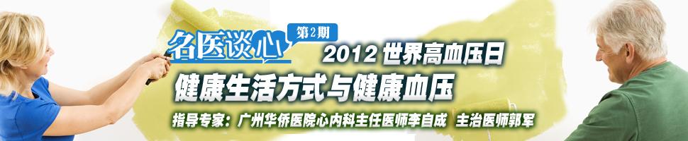 名医谈心第2期:2012世界高血压日 健康生活方式与健康血压